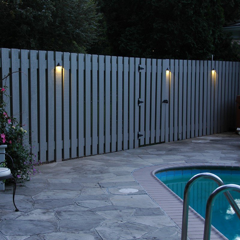 Fence Led Lights Image Gallery Outdoor Fence Lighting